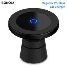 Bonola מגנטי אלחוטי לרכב מטען עבור iPhone 11/11Pro/11 ProMax/XsMax/Xr/8 צ י רכב טלפון אלחוטי מטען עבור סמסונג S10/S9/S8