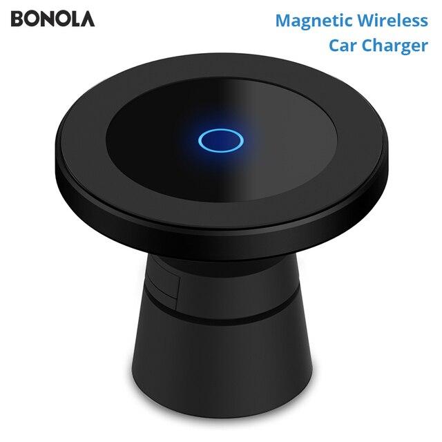 Магнитное беспроводное автомобильное зарядное устройство Bonola для iPhone 11/11Pro/11ProMax/XsMax/Xr/8 Qi, автомобильное беспроводное зарядное устройство для телефона Samsung S10/S9/S8