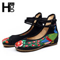HEE GRAND Cultural Women Flat Shoes Unique Chinese Traditional Style Floral Women's Shoes Manual Canvas Shoes Woman XWD2585