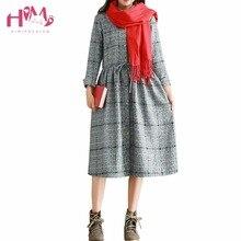 Осень модные женские туфли с длинным рукавом Винтаж платье японский Мори девушка британский стиль плиссированные платья плюс Размеры Рубашки в клетку платье