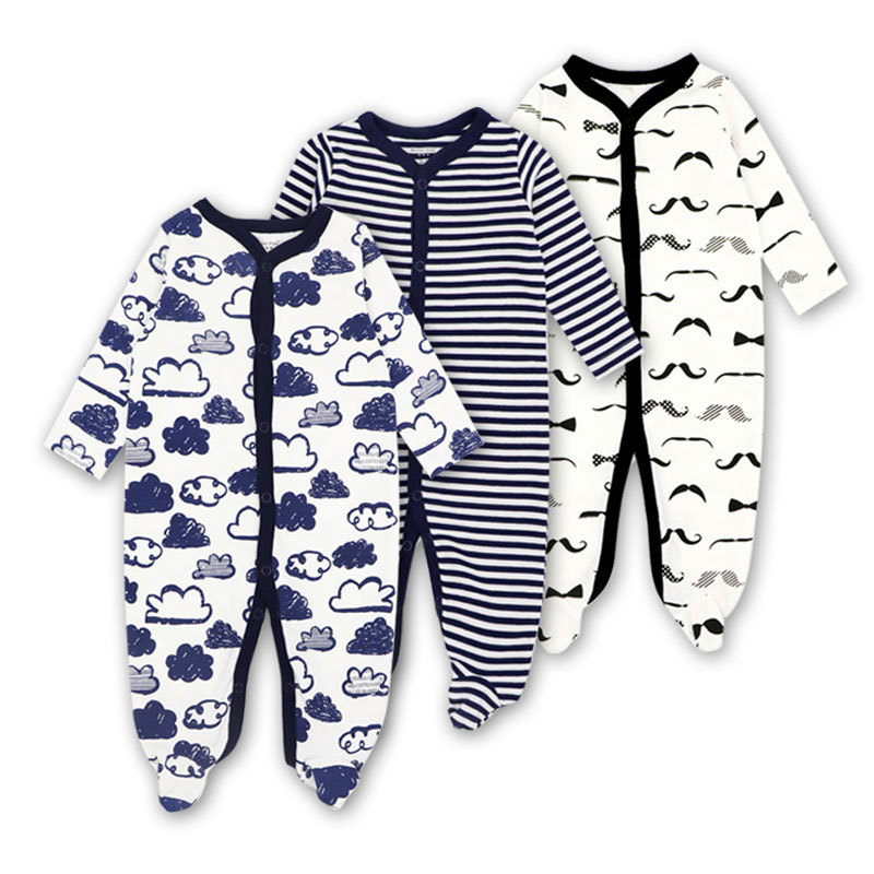 Newborn Baby Girl Clothes 2018 Baby Romper Long Sleeves 100% Cotton Comfortable Baby Pajamas Cartoon Printed