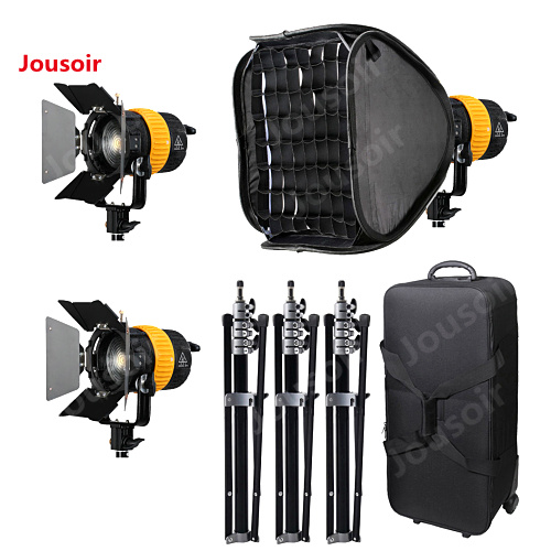 3x80 w LED V-Power lock + 3 Stand + softbox 5500/3200 k Haute CRI spotlight Pour Vidéo CD15