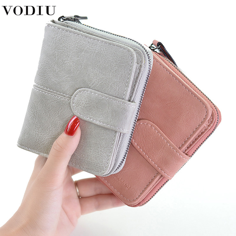 Leather Wallet Fashion Short Clutch Lady Solid Mini Purse Women's Small Wallet For Credit Card Female Coin Purse Women Wallets