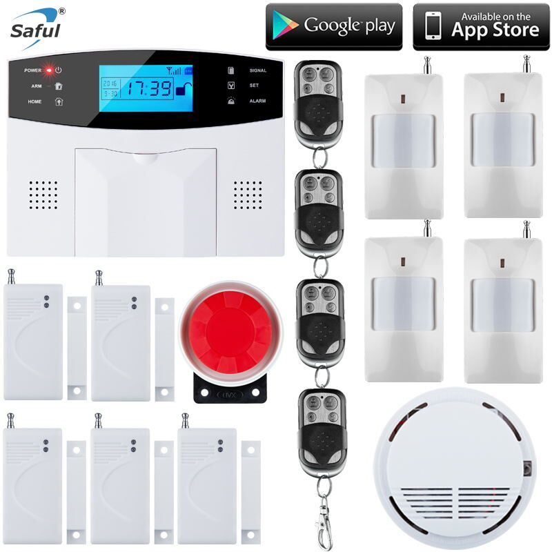 7'LCD Keyboard Wireless SMS Home GSM Alarm system RU/SP/EG/FR/IT Voice House intelligent auto Burglar Door Security Alarm System wireless gsm pstn auto dial sms phone burglar home security alarm system yh 2008a
