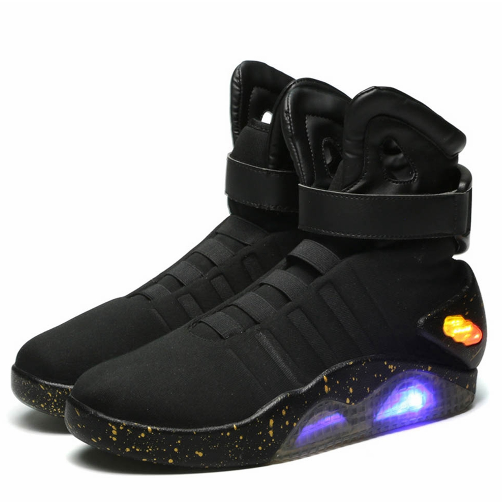 Japanese Anime Back to the Future Marty McFly Shoes Light Up Mens Sneakers Sport Shoes Cosplay Costume Accessory For Men