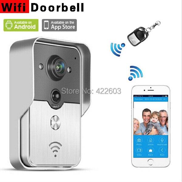 Новый wi-fi видео-телефон двери дверной звонок домофон поддержка IOS для iPad смартфоны планшет бесплатная доставка россия