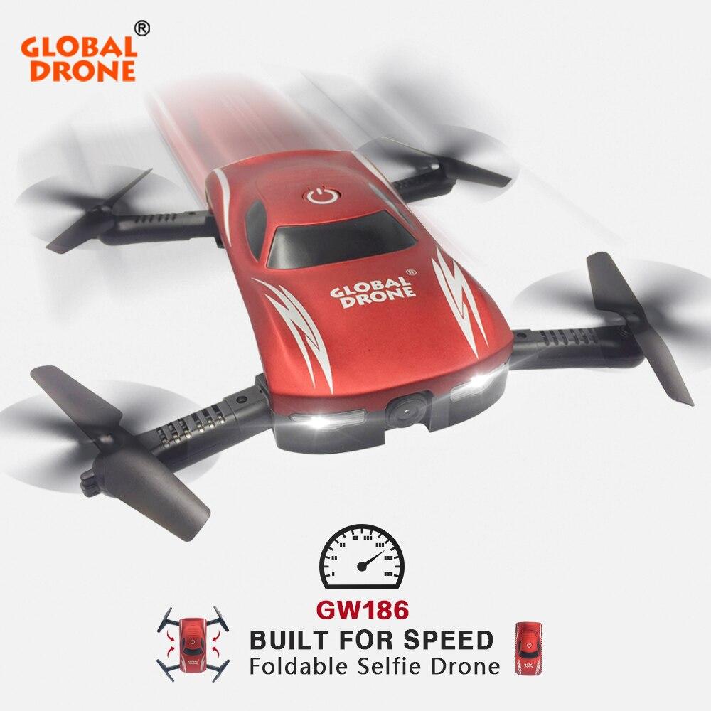 Global Drone GW186 Foldable Drone with Camera HD Wifi Control FPV Quadrocopter Selfie Drone Professional Dron VS JY018 E58 E52