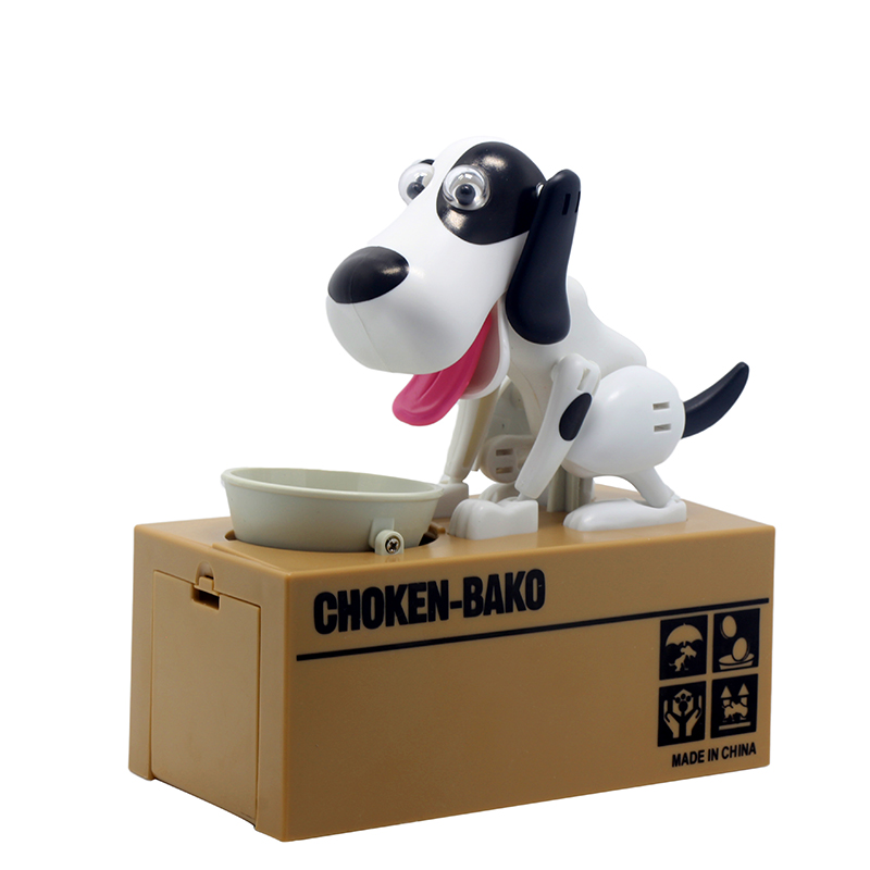 2017 Best selling products creative 6 colors Piggy bank Robotic Dog Bank Canine Money Box Doggy