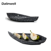 Imitation Porcelain Fry Meat Cold Mix Barbecue Grill Tray Salad Serving Platter Plate Dish Dining Room