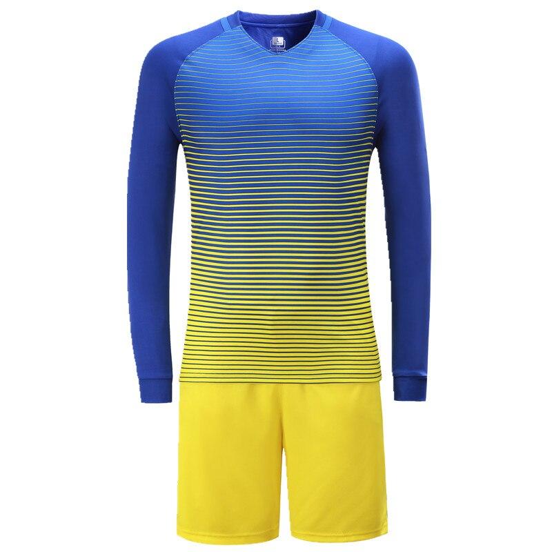 Fall / Winter Long Sleeve Soccer Wear Suit Soccer Jersey Set Futbol Kids Adult Sports Wear Tracksuit Uniform Set Maillot De Foot