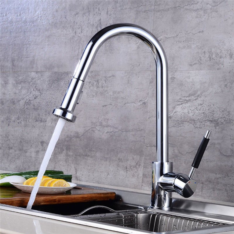 Kitchen faucet Chrome Pull Out Kitchen Faucet Brass Faucets for Kitchen Sink Pull Out Spring Spout Mixers Tap Hot Cold Kitchen faucet Chrome Pull Out Kitchen Faucet Brass Faucets for Kitchen Sink Pull Out Spring Spout Mixers Tap Hot Cold
