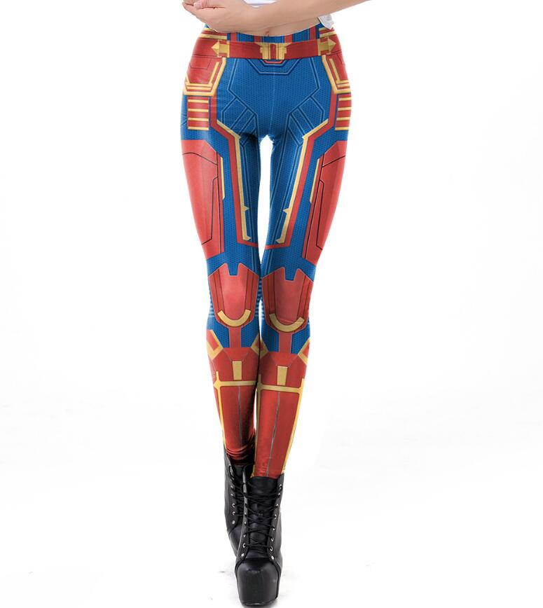 Leggings Women  Digital Print  Ms. Marvel Surprise Captain Super Hero Avengers Cosplay Pants Fitness Elastic Party Leggings Top