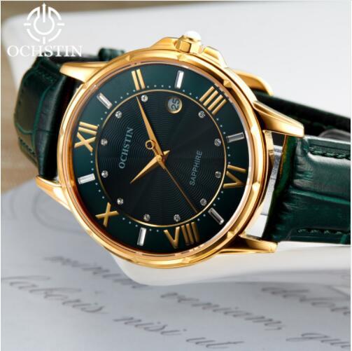 2019 femmes montres marque de luxe célèbre en cuir véritable japon mouvement montre-bracelet à Quartz femme automatique Date horloge Relogio Feminino - 4
