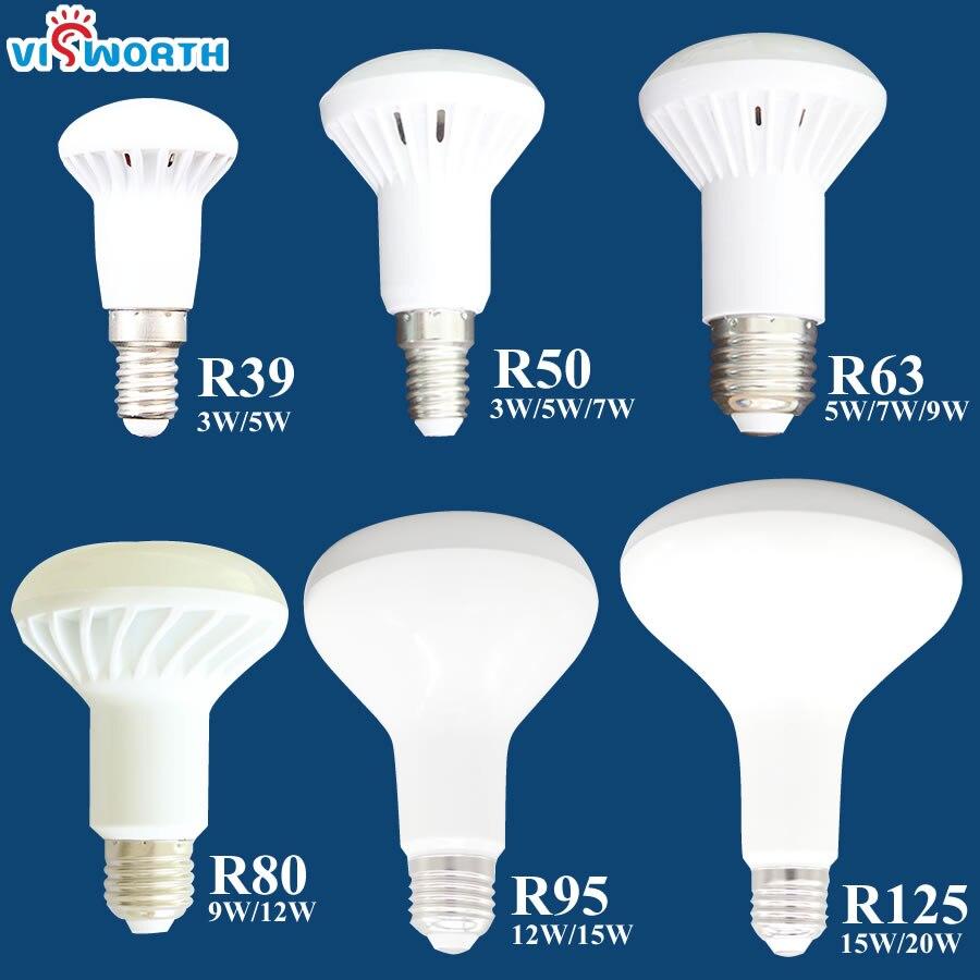 R50 LED lamp 3w 5w 7w 9w 12w 15w 20w led light e14 e27 r39 r63 r80 br30 br40 led bulb ac 110v 220v 240v warmcold white spotlight mitsubishi 100% mds r v1 80 mds r v1 80