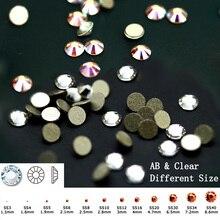 """2058NoHF SS3-SS50 Visų dydžių 3D nagų dailės dekoracijos Costura AB ir """"Clear Strass Crystal"""" neatidarinėja versija """"Flatback Nails"""" akmeniniai brangakmeniai"""