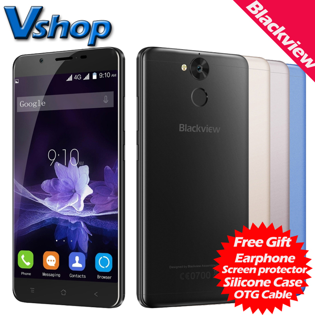 Blackview P2 4G Mobile Phone Android 6.0 4GB RAM 64GB ROM Octa Core 6000mAh Battery 1080P 13.0MP Dual SIM 5.5 inch Cell Phone