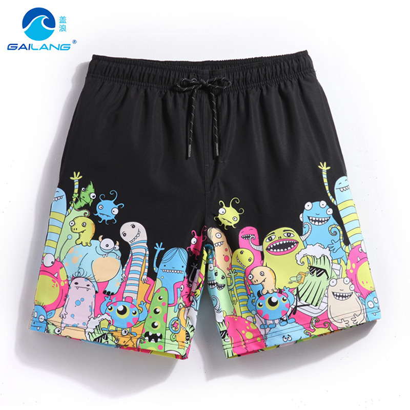 Buy Gailang summer board shorts cartoon pattern loose swimwear men swimming trunks sweat sexy swimsuits mens bermudas beach surf gym