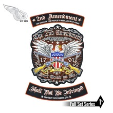 2nd Amendment Eagle military patch embroidery iron on full set for jacket vest free shipping full set biker lives ride free patch iron on embroidery for t shirt jacket clothes free shipping diy design