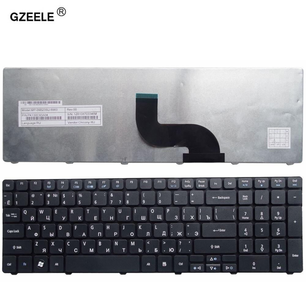 GZEELE RU Clavier d'ordinateur portable pour ACER Q5WT6 Q5WPH BIC50 5742Z 5742ZG 5744 5744Z E732 E732G E732Z 5736g 5539g 5410 t RUSSE noir