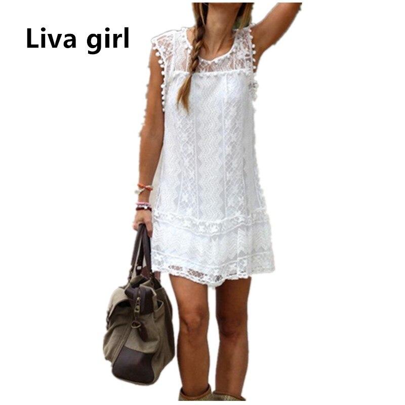 Women Boho Summer Dress Bohemia Casual Lace Tassel Loose Ukraine Dress Plus Size Beach Tunic Hippie