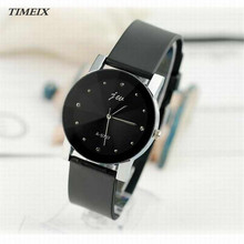 New Fashion Gentlmen PU Leather High-Quality Dail Quartz Watch Casual Wrist Watches Women High Quality Free Shipping,Dec 9