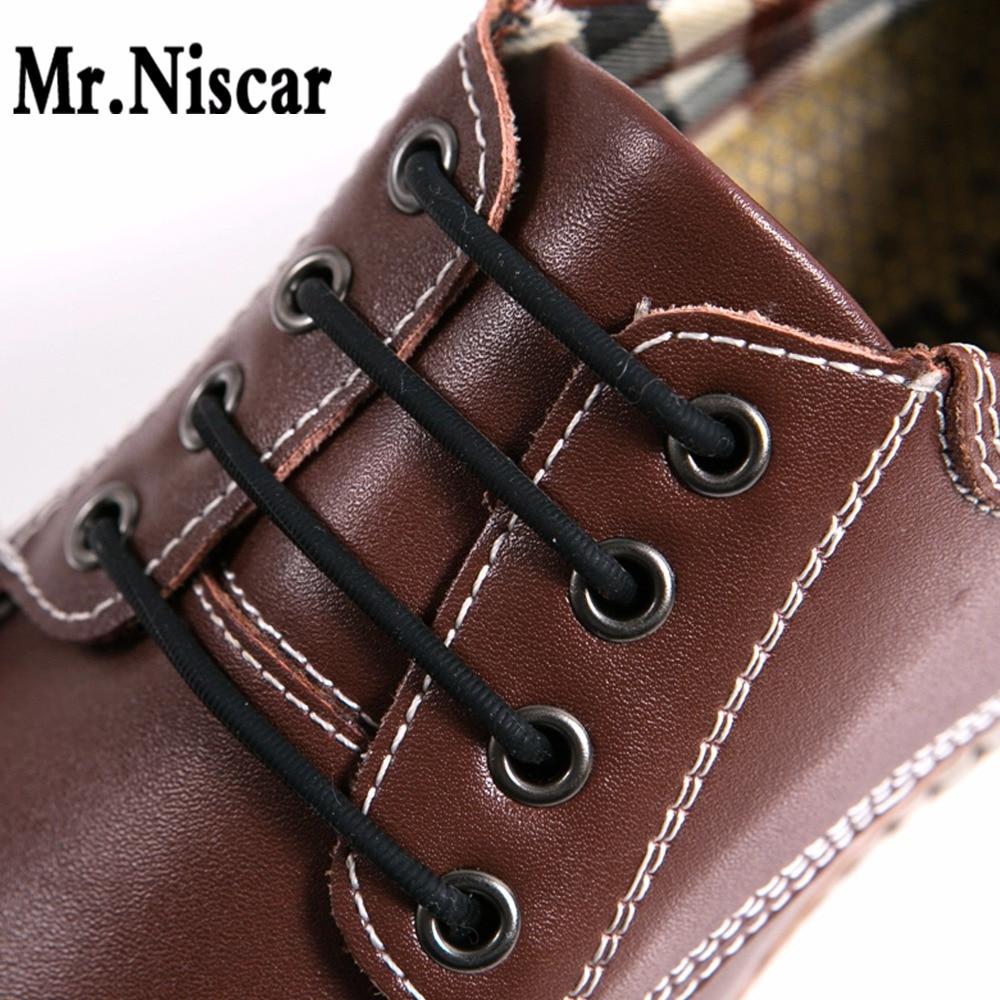 Mr. Niscar 1 เซ็ต / 12 ชิ้นไม่มีผูกเชือกผูกรองเท้าแปลกยืดหยุ่นซิลิโคนหนัง Laces รองเท้าสำหรับผู้ชายผู้หญิงทั้งหมดพอดีสายรัดธุรกิจรองเท้า