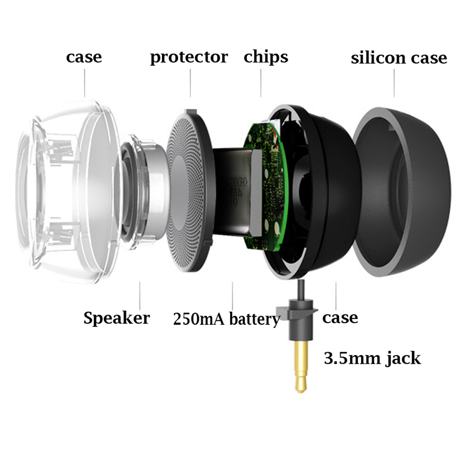 Image 5 - Portable HIFI 3D Surround 3.5mm Aux Audio Jack Mini Wireless Round Shape Powerful Crystal Speaker Altavoz for Smart Phone Tablet-in Portable Speakers from Consumer Electronics