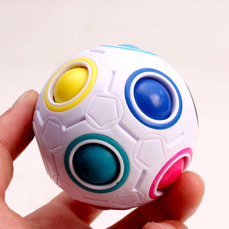 Креативный Сферический магический скоростной куб радуги, пазлы, мяч, футбол, забавные Монтессори, антиestres, шар, кубик, игрушки для детей