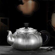 Hundred Years Craftsman Silver Pot Pure 999 Handmade Teaware Household Kungfu Teapot Original Design Single