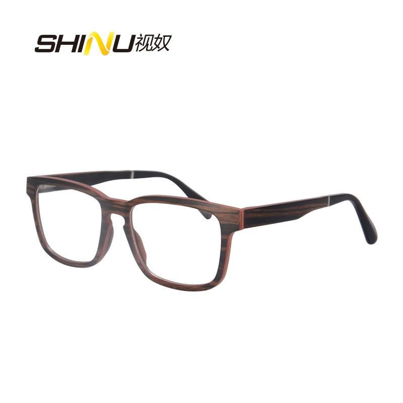 priroda drvo optički okvir naočale s receptom naočale - Pribor za odjeću - Foto 2
