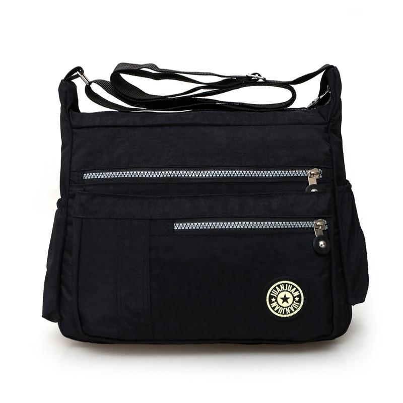 Neue Frauen Handtasche Wasserdichte Nylon Umhängetaschen Lässig Feste Tote Mode Kleine Messenger Bags Original Stil Freizeitpaket