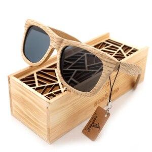 Image 2 - בובו ציפור עץ משקפי שמש מותג מעצב חום עץ משקפי שמש סגנון כיכר משקפי שמש Masculino Dropshipping OEM