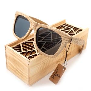 Image 2 - BOBO oiseau bois lunettes de soleil marque concepteur marron en bois lunettes de soleil Style carré lunettes de soleil Masculino livraison directe OEM