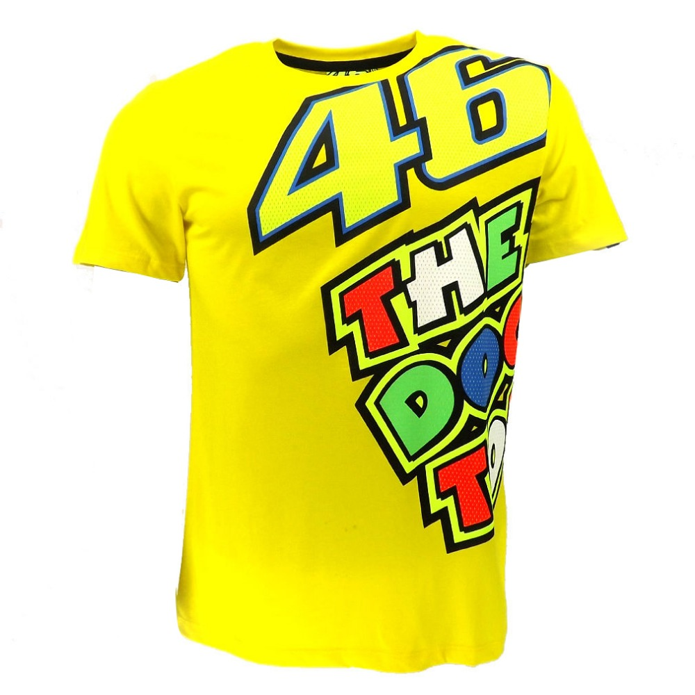 2018 Valentino Rossi VR46 Yellow 46 The Doctor T-Shirt Racing Sport Motor Moto GP T shir ...