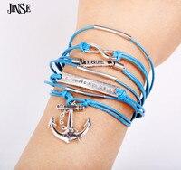 PSL251 Bohemina Designer Weave Charm Bracelets Wrist Band Hemp Rope Wrap Infinity Love Bracelet Women Antique