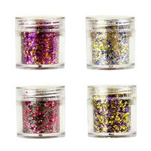 1box 10ml [Chunky Glitter] 10g Holographic Glitter Flake Festival Sequin 2mm 4Color For Decoration Nails GR-636