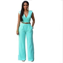 New Fashion Sexy Jumpsuits Ladies Loose Slim Casual Party Overalls Women Sleeveless Night Club Rompers With belt macacao 2019 hot fashion womens summer casual sleeveless strappy tank dress loose slim party club midi bodycon new