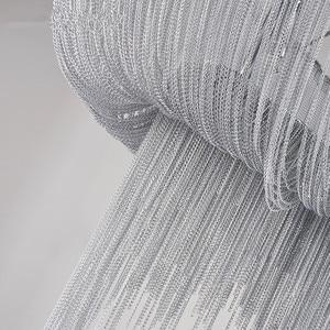 Image 5 - الحديثة الفضة الألومنيوم سلسلة أضواء الثريا الفاخرة الهندسة تصميم الفاخرة سلسلة شرابة مصباح ل فندق ديكور مطعم