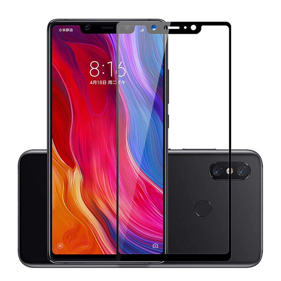 Tempered Glass For Xiaomi Mi 8 Lite 8pro Mi8 8se Full Cover Screen Protector For Xiomi Mi 8 Light Pro Protective Film On Xiami 8