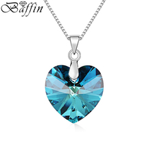 2017 Romantic Heart luxurious Necklaces&Pendants Crystals From SWAROVSKI Elements For Women Jewelry Valentine's Day's Gift
