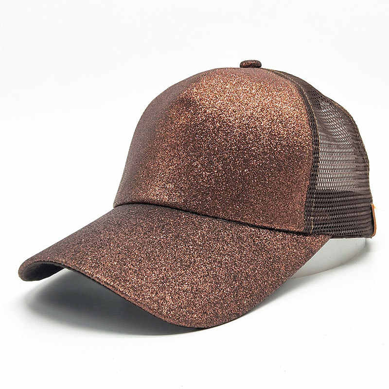 62166f9aab97b5 ... Ponytail cap 2018 Glitter Women Baseball Cap Girls messy bun baseball  Caps Snapback Summer Sports Mesh ...