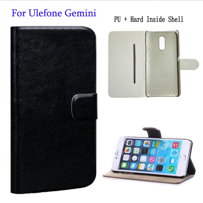 (Gift HD Film + Touch Pen) Simple Fashion Flip PU Leather Case For Ulefone Gemini Cases With Kickstand Dirt-resistant Cover