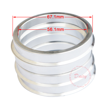 (4pcs/lot) ID=56.1mm OD=67.1mm Aluminum Car Wheel Hub Centric Rings (56.1-67.1) centric parts 150 47045