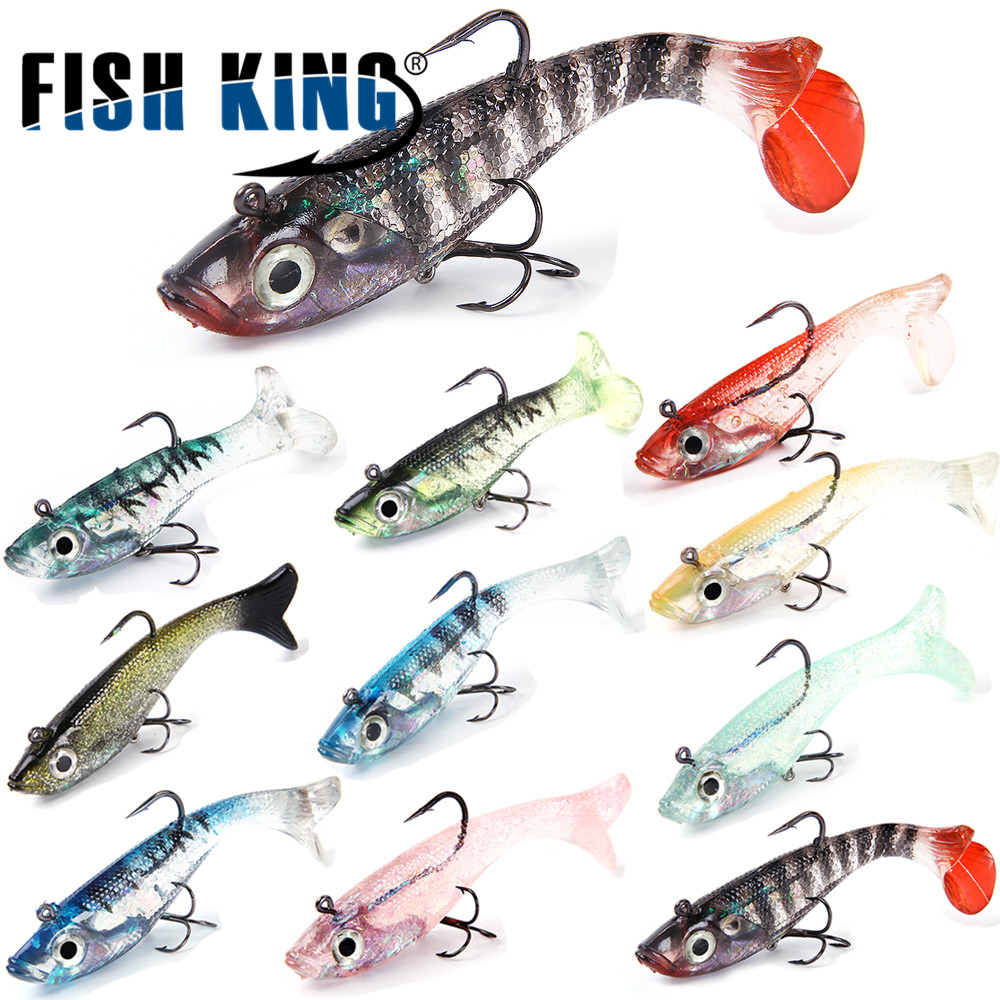 13g Crank fly fishing Silicone  Minnow Lure Lead Head hook Soft bass Bait worm