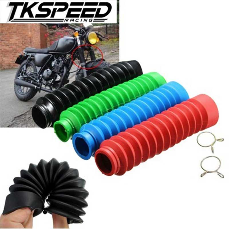 1 Pair Rubber Black Universal Motorcycle Rubber Fork Gaiter Cover Shock Boots Gaiters Dirtbike Gators Boots