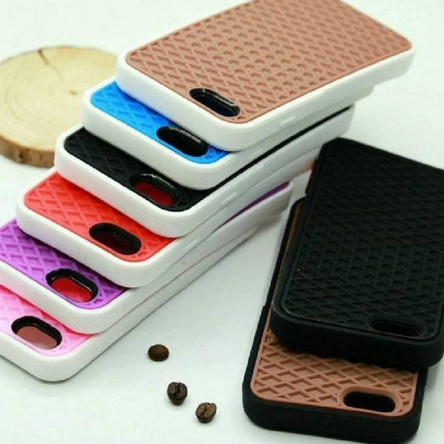 VANS Waffle Case For Apple iPhone X 10 8 7 6 6S 5 5s 7 plus SE Cover Soft Rubber Silicone Waffle Shoe Sole Mobile Phone Funda 2
