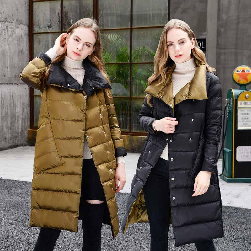 Longues Gold Deux Manches Nuw222 D'hiver 2019 Femmes champagne Supérieure face De Mode royal Blue Couleur À Qualité Léger Solide Black Nouvelle Doudoune OwB7xB6H