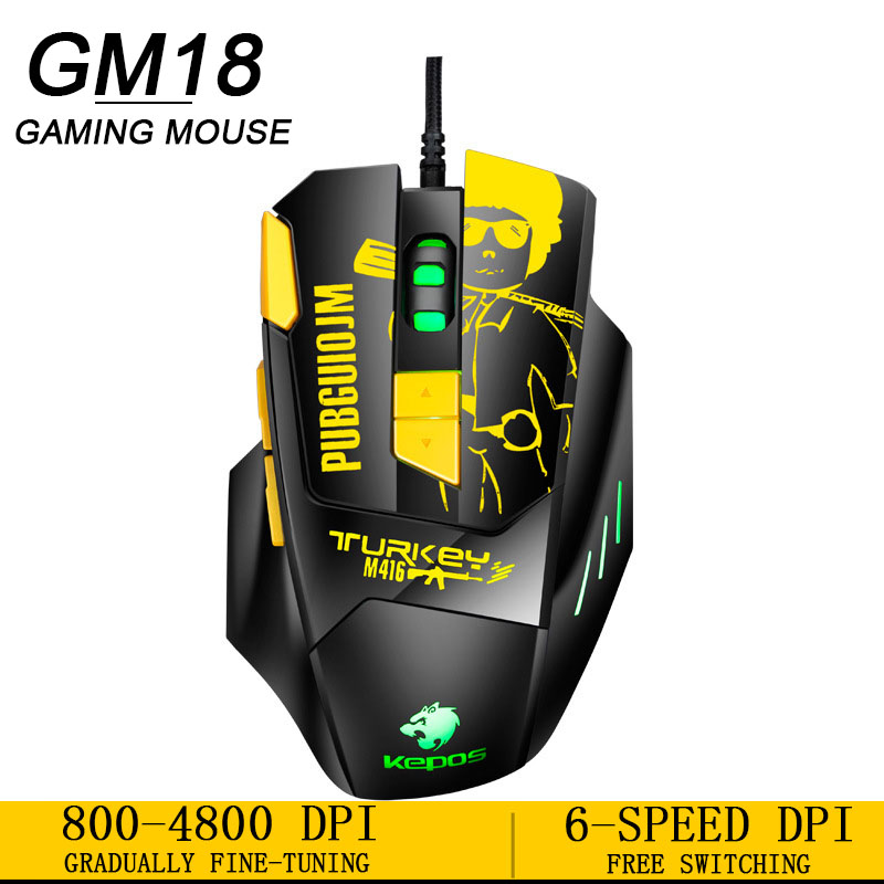 New High Quality 4000 DPI 8 Button Ergonomic Optical Wired Mouse Professional Gaming Mouse  For Pc/Laptop USB Game Mouse