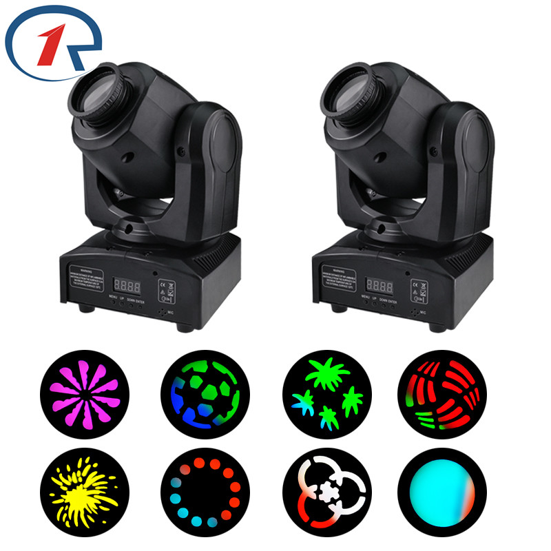 ZjRight 2pc/lot 35W LED moving head Spot Lights DMX stage light Effect for Night Club Bar Stage Party Performance dj disco light 10w disco dj lighting 10w led spot gobo moving head dmx effect stage light holiday lights