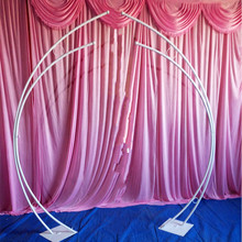2pcs/set wedding arch iron frame road lead art stage background door moon birthday party supplies